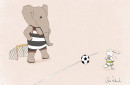 Nursery Art Print Goal Kick