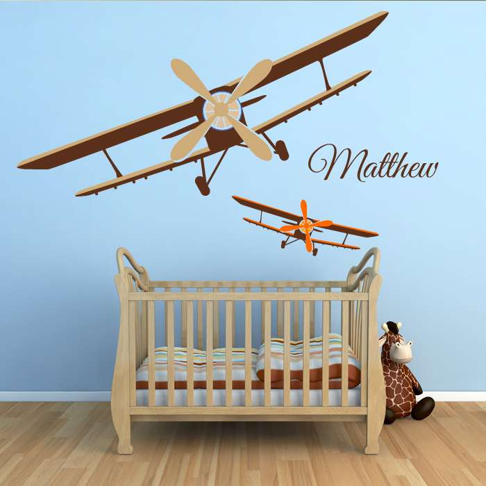 planes wall decal by artollo