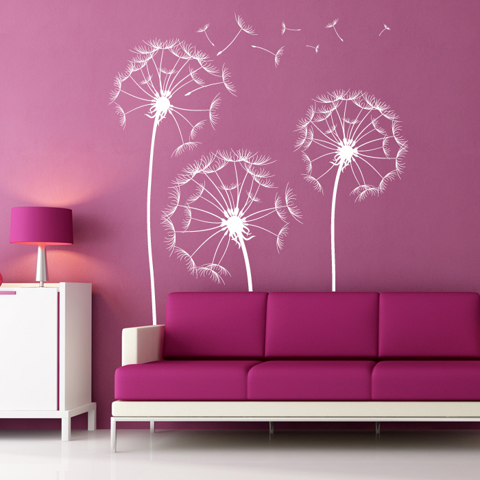 Perfect dandelion wall decals home design 989 for Dandelion wall mural