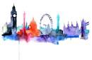 London watercolor print