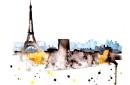 Paris watercolor print