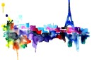 Eiffel Tower watercolor print