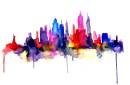 New York watercolor print