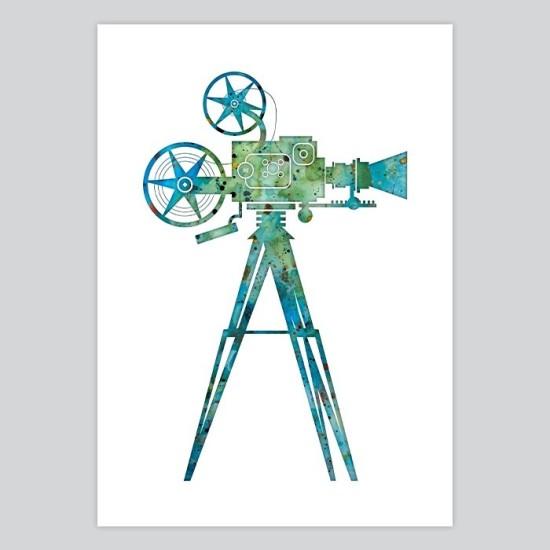 Movie Camera    Watercolor Print