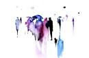 Umbrellas Watercolor Print