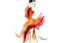 Ballerina Watercolor Print