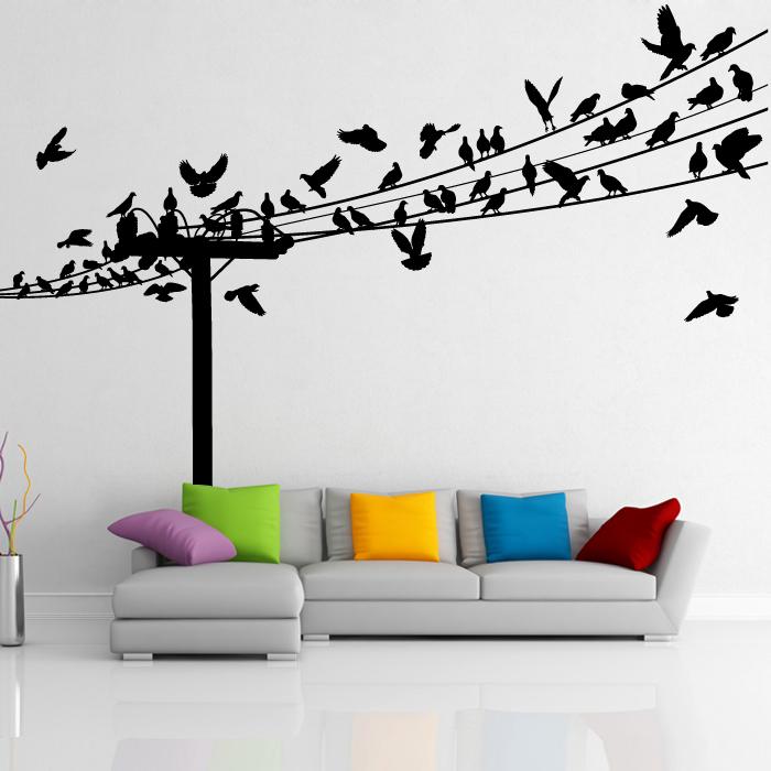 birds on wire wall decal -artollo