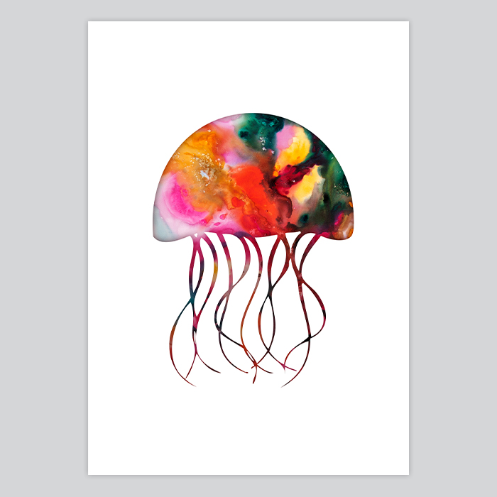 Jellyfish Watercolor A...