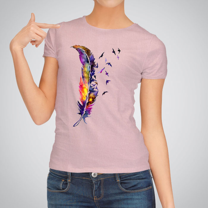 Women's printed T shirts include those from Style&co., GUESS? and Karl Lagerfeld that feature bold graphic prints and designs. More subtle prints come from INC International Concepts and others. Women will feel breezy and flirty when wearing one of these fun tops with leggings or jeans.