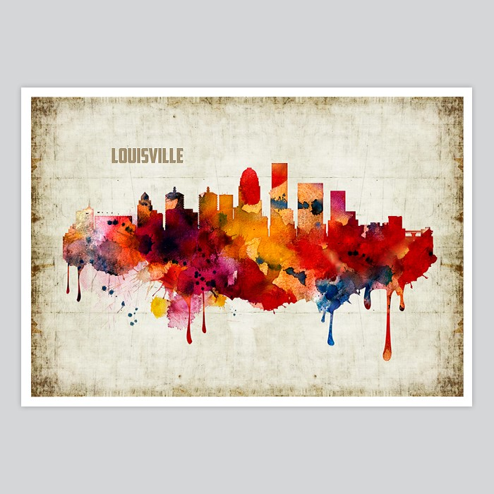 Louisville Watercolor Print By Artollo