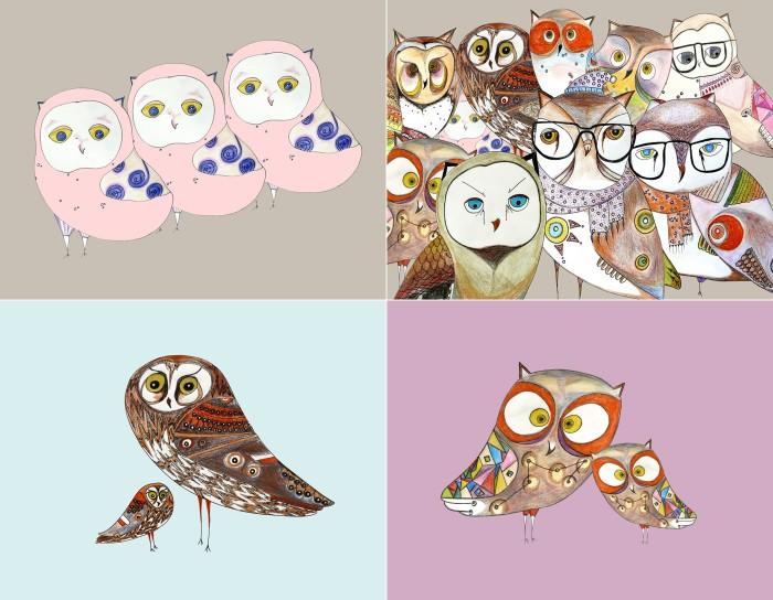 owl prints artollo