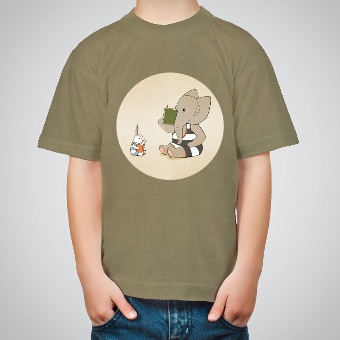 Kid s printed t shirts the green book by artollo for Books printed on t shirts