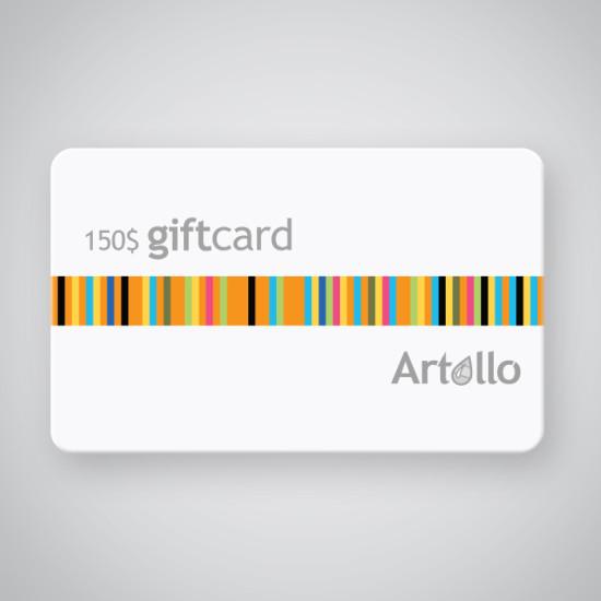 artollo gift card 150 %