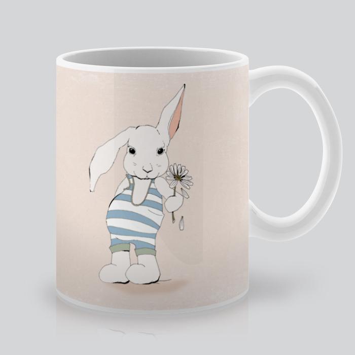 Artollo Printed Coffee Mug with Bunny
