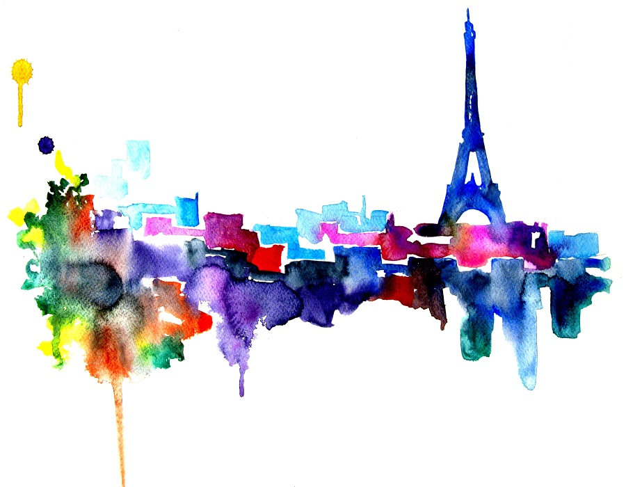 Artollo Watercolor Print Paris