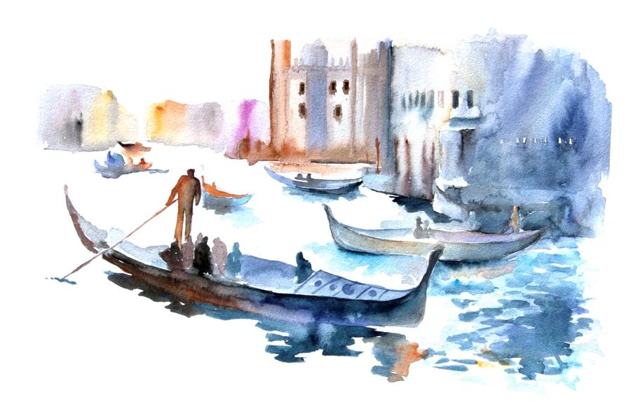 Artollo Watercolor Print Venice