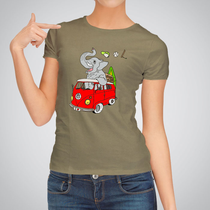 Women s printed t shirts hippie elephant by artollo for Elephant t shirt women s