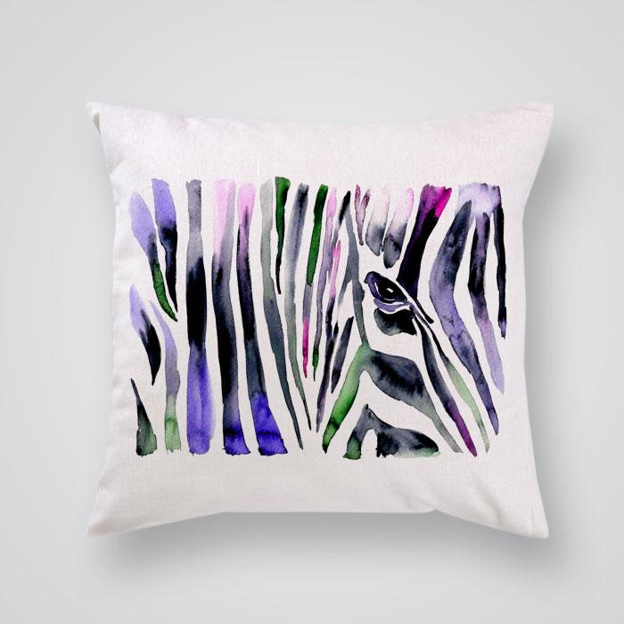 Throw Pillow Cover Zebra Pattern Print - By Artollo