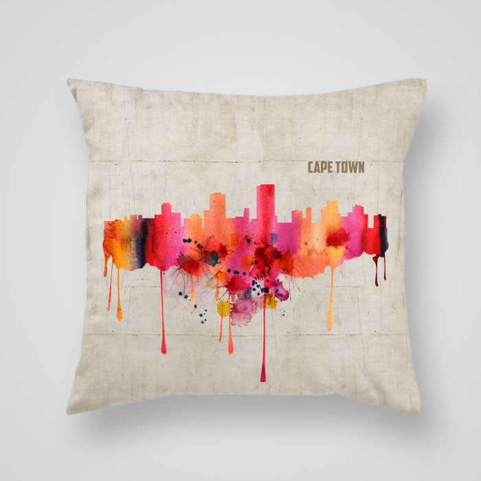 Throw Pillow Cover View Of Cape Town By Artollo