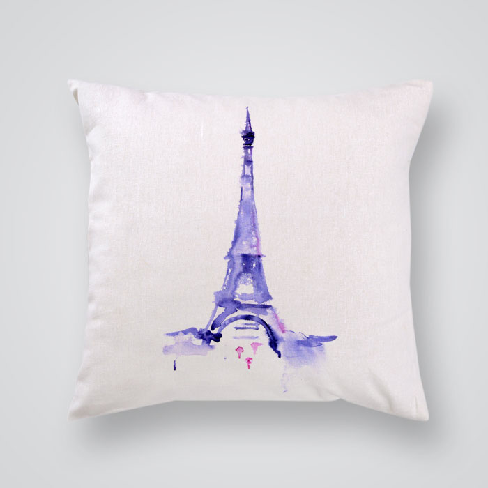 Decorative Pillows Eiffel Tower : Throw Pillow Cover The Eiffel Tower - By Artollo