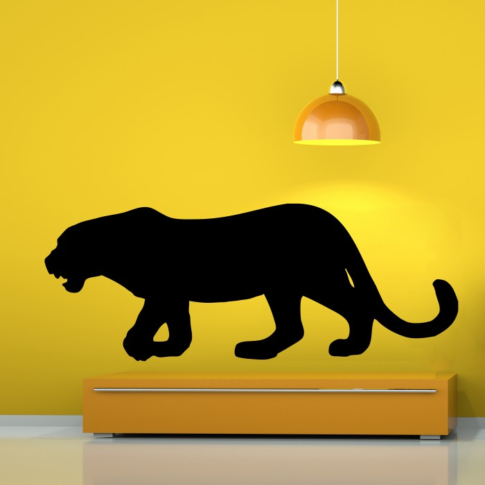 Black panther vinyl wall decals by artollo for Black panther mural
