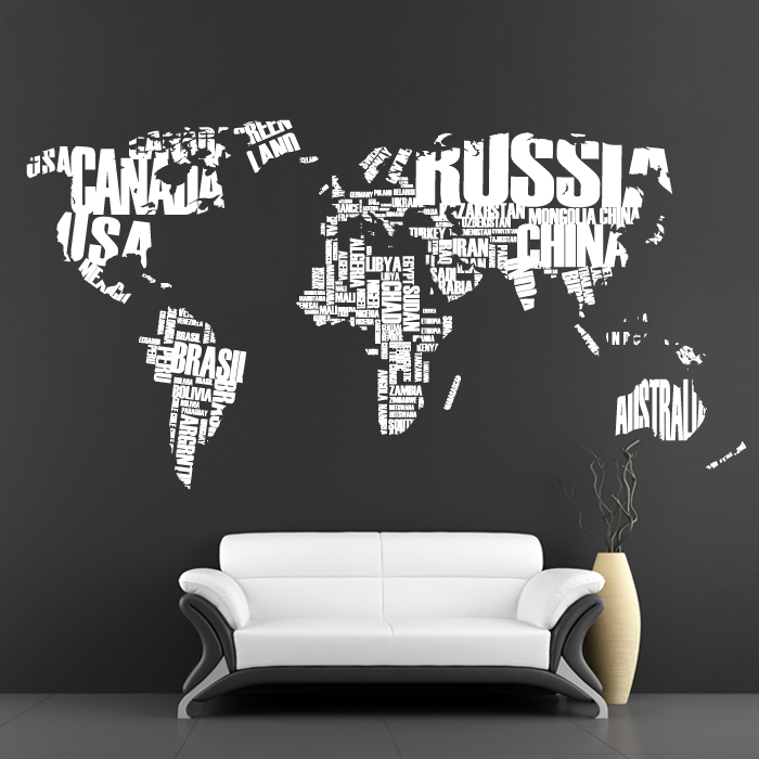 Cool wall stickers big map by artollo for Awesome wall decal directions