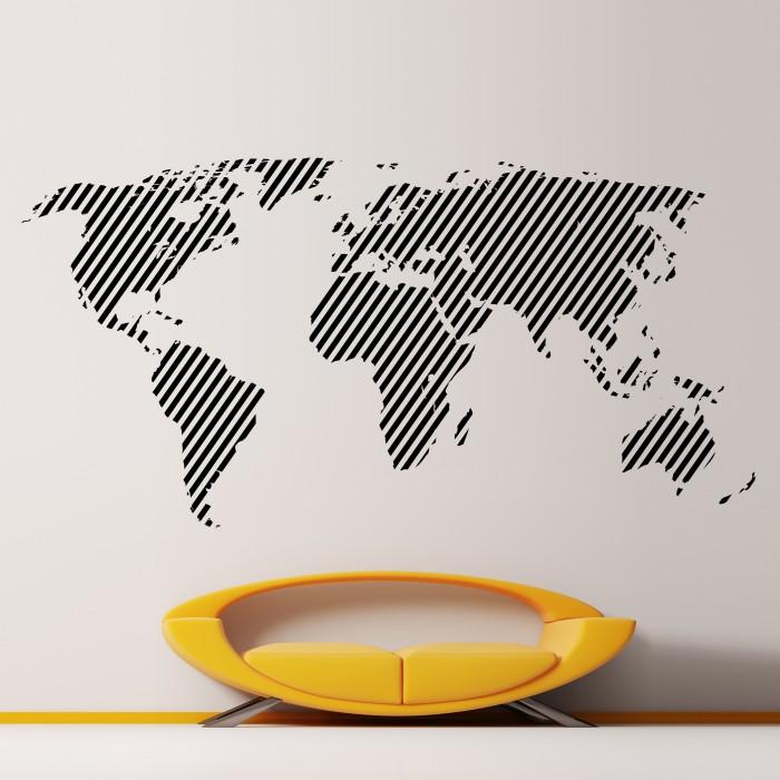 Beau Cool Wall Stickers World Map