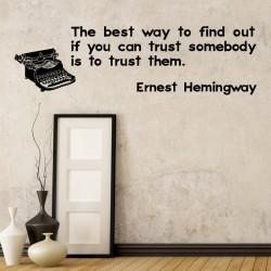 Ernest Hemingway's Quote