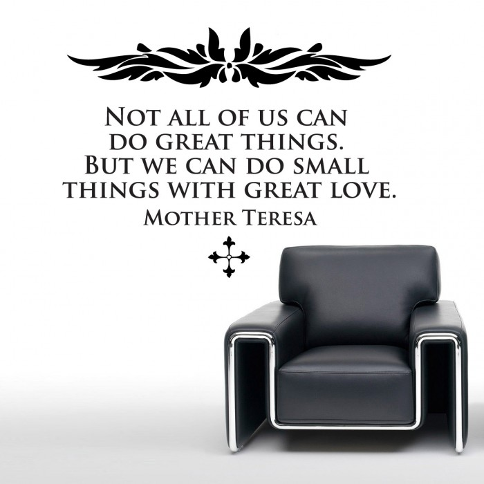 Mother Teresas Quote Wall Stickers By Artollo