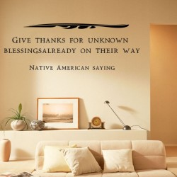 Native American Saying Wall Decals