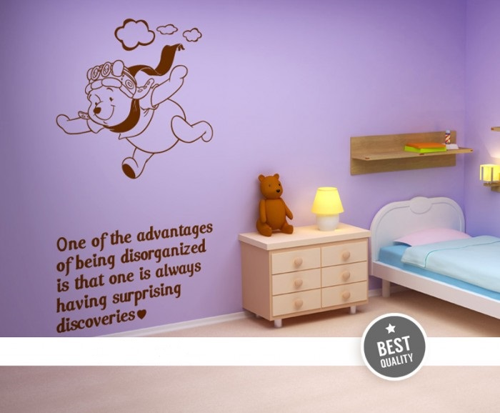 nursery wall decor winnie the pooh by artollo. Black Bedroom Furniture Sets. Home Design Ideas