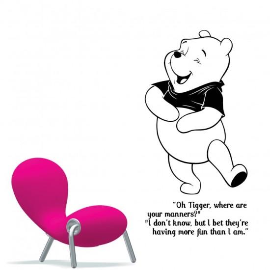 nursery wall stickers winnie the pooh by artollo winnie the pooh numbers wall stickers brand new ebay