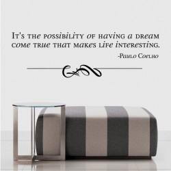 Paulo Coelho's Quote Vinyl Stickers