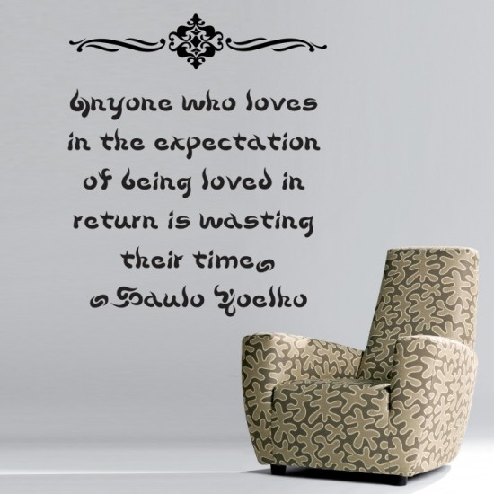 Quote By Paulo Coelho Wall Sticker