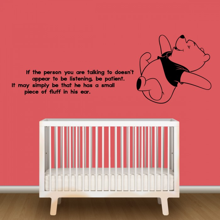 winnie the pooh nursery wall decor by artollo. Black Bedroom Furniture Sets. Home Design Ideas