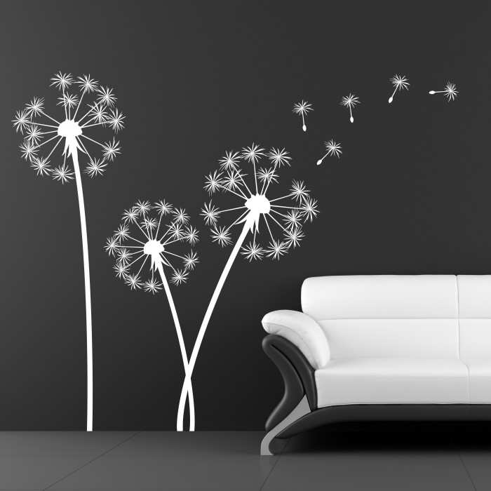 Dandelion flowers wall decals by artollo for Dandelion wall mural