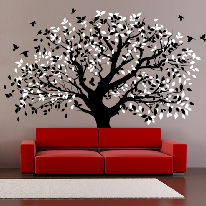 Living Room Wall Decals Big Tree - By Artollo