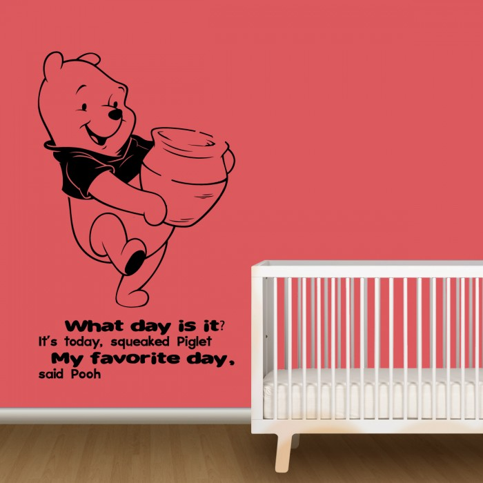 nursery wall decals with quotes by pooh by artollo