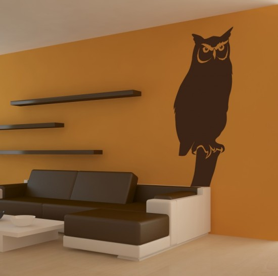 vinyl wall stickers owl by artollo vinyl wall decals for your rooms home design inspirations