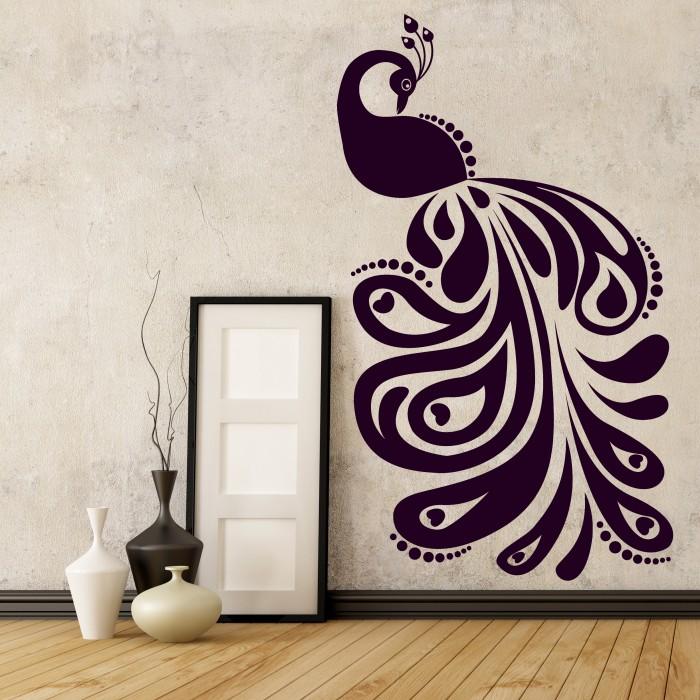 vinyl wall stickers peafowl by artollo quot electronic chaos quot vinyl wall stickers freshome com