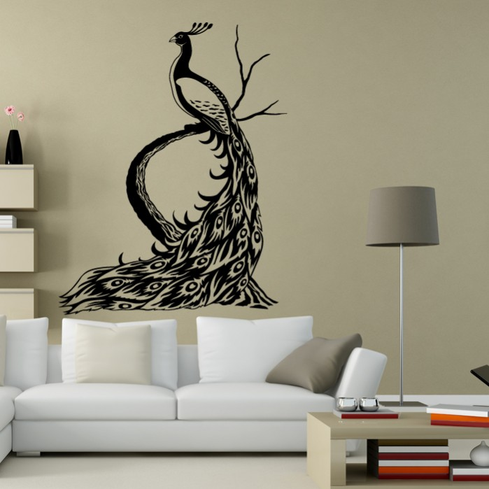 wall decals peacock by artollo. Black Bedroom Furniture Sets. Home Design Ideas