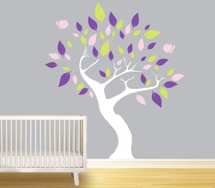 wall murals big tree for nursery by artollo nursery mural wall cartoon themed painting showcase how