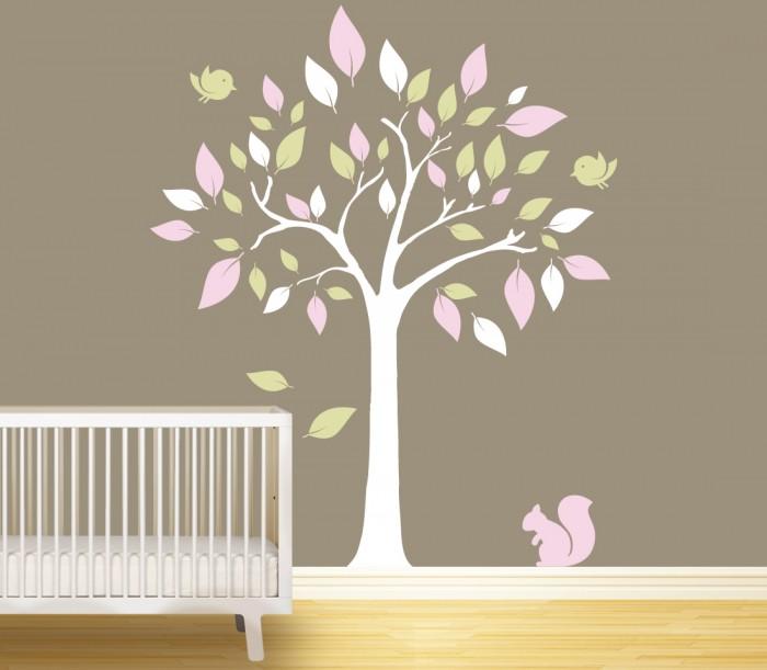 wall stickers big tree for nursery by artollo decorative stickers big tree giant wall stickers