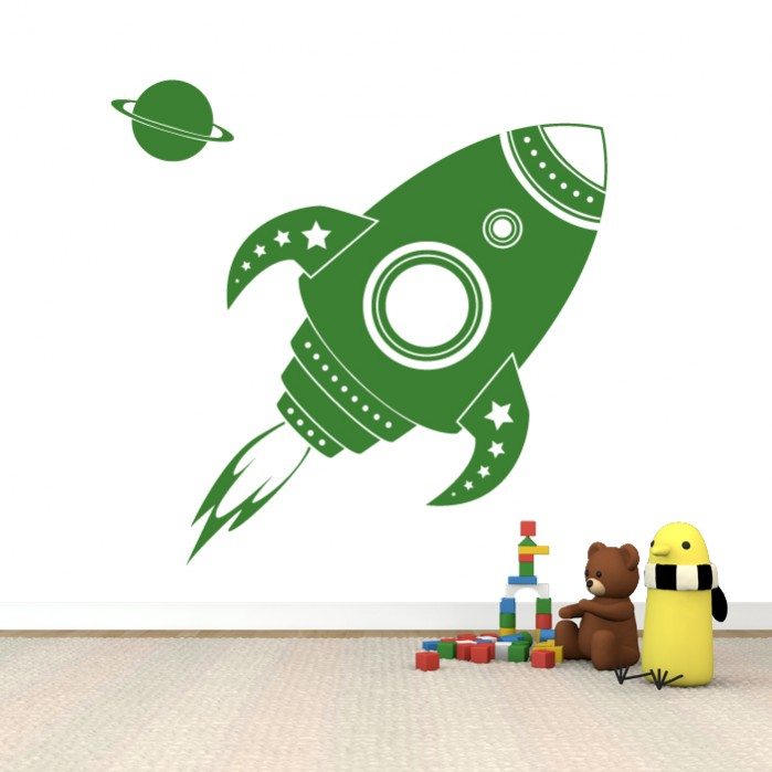 wall stickers for kids space rocket by artollo kids space wall stickers promotion shop for promotional