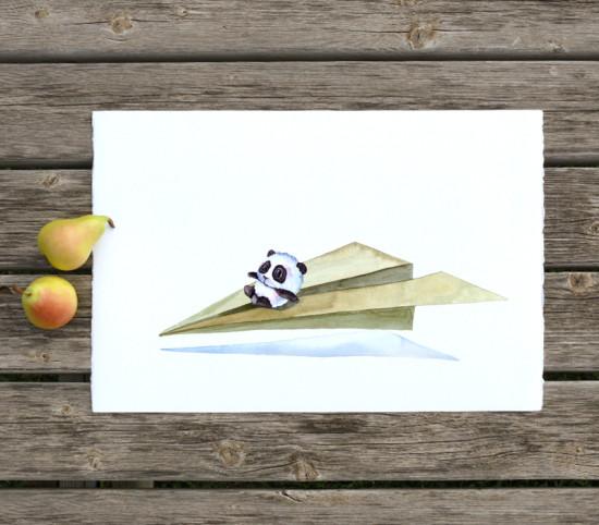 44 Panda Paper Plane Pilot