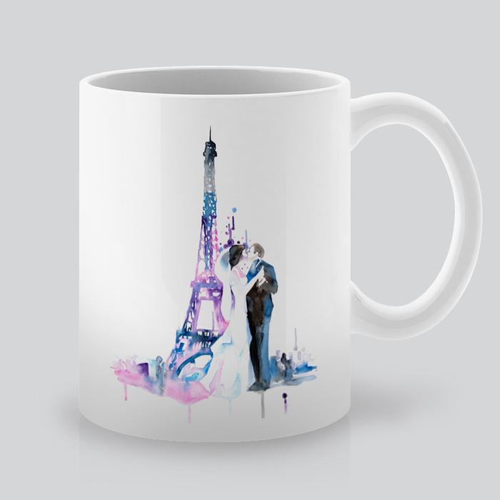 Printed Mugs With Wedding KissBy Artollo