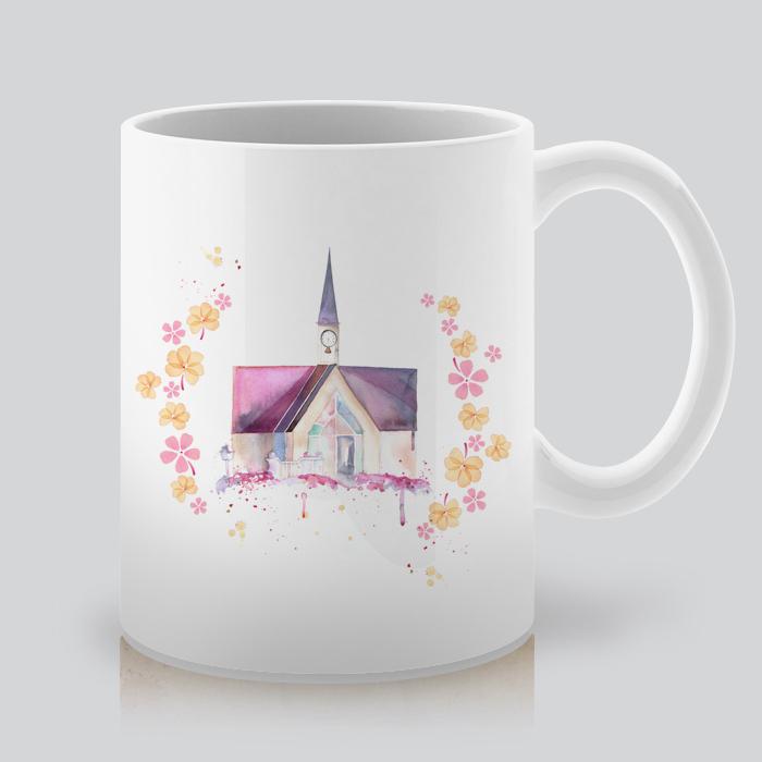 Printed Mug with Wedding ChapelBy Artollo