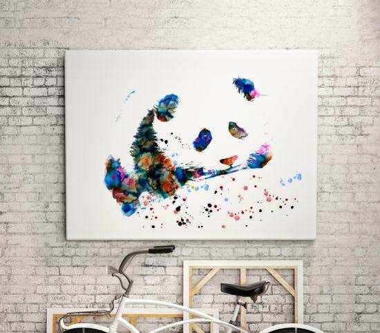 Cute Panda Art print