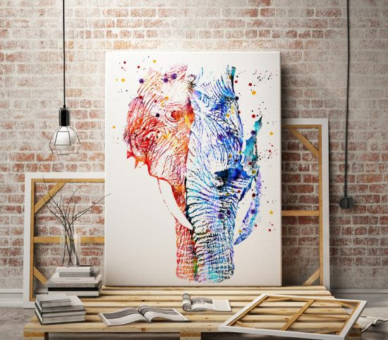 Elephant Couple Print