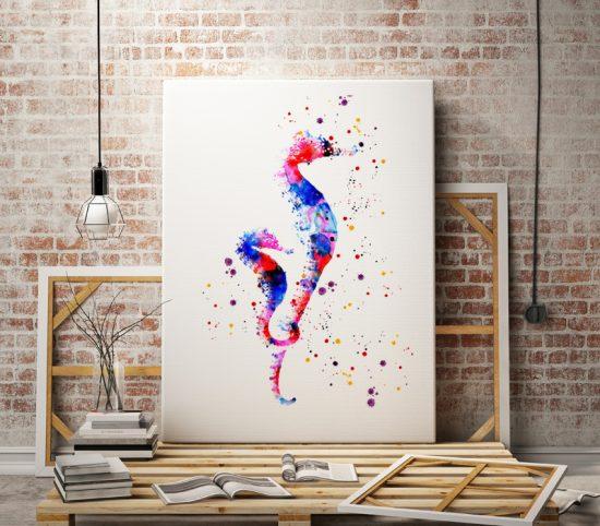 Seahorses Print